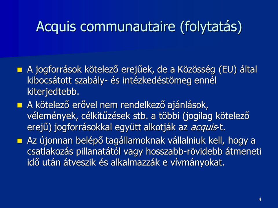 """Alapító szerződések  1950.05.09.: Schuman-nyilatkozat  1951.04.18.: Európai Szén- és Acélközösség (ESZAK), a """"Hatok  1957.03.25.:Európai Gazdasági Közösség (EGK), Európai atomenergia Közösség (Euratom)  1965: Egyesülési Szerződés (ESZAK, EGK, EURATOM) 5"""