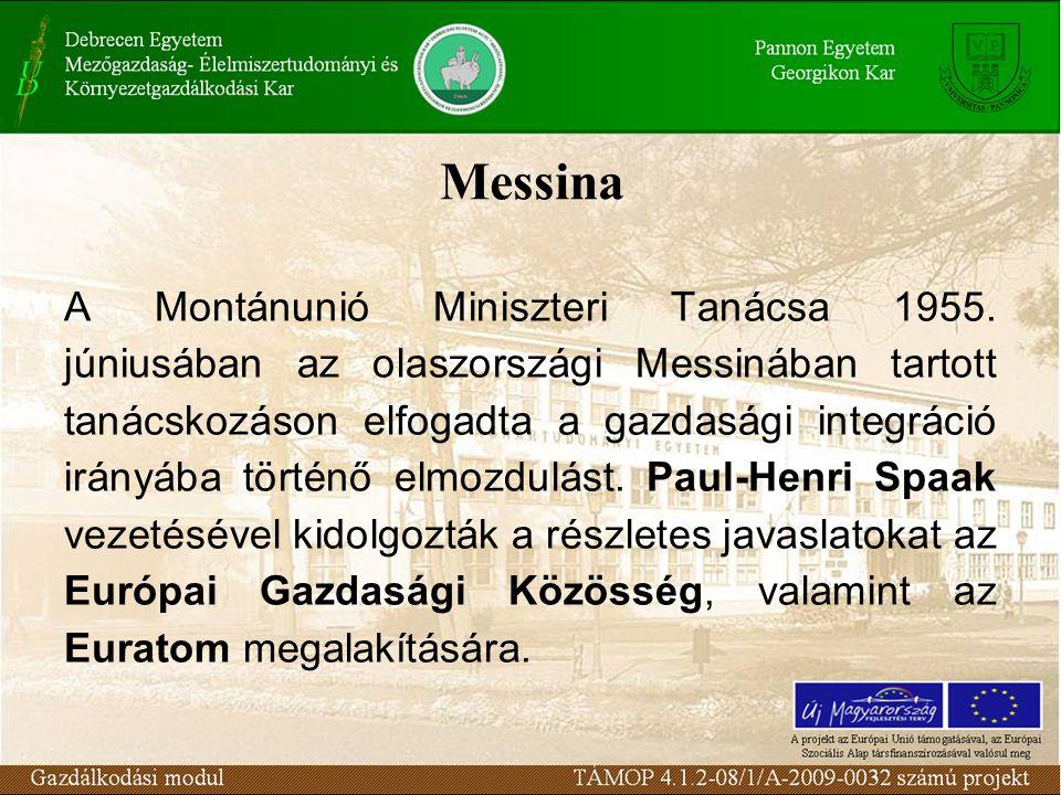 Messina A Montánunió Miniszteri Tanácsa 1955.