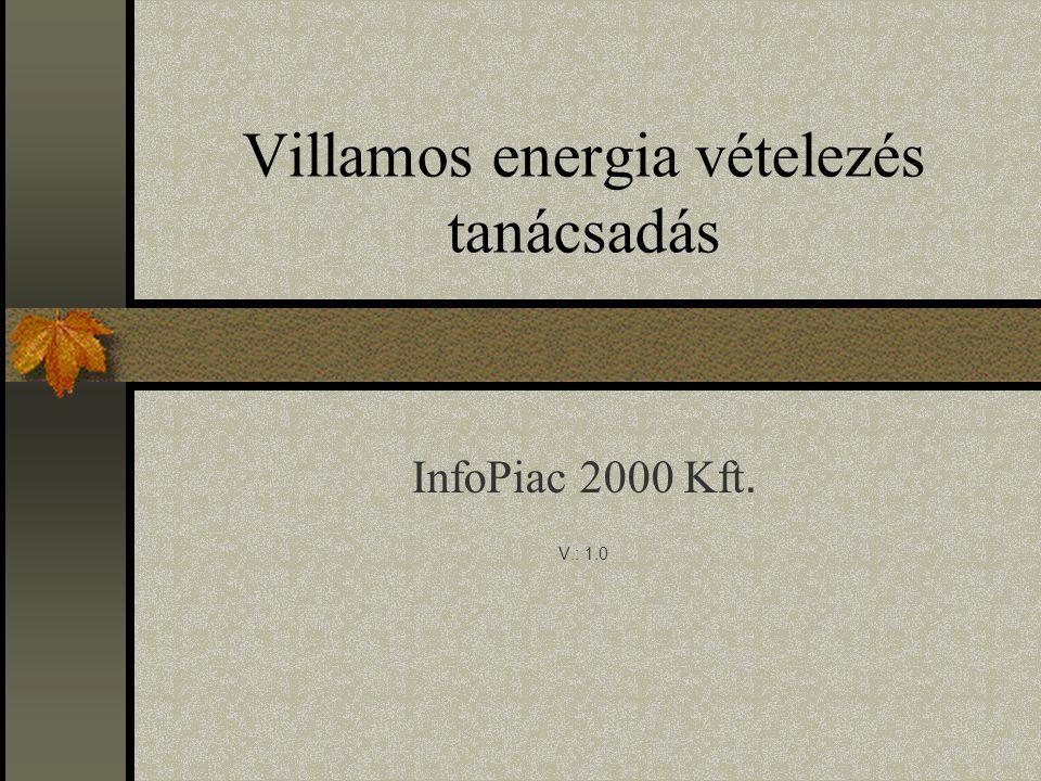 Villamos energia vételezés tanácsadás InfoPiac 2000 Kft. V.: 1.0