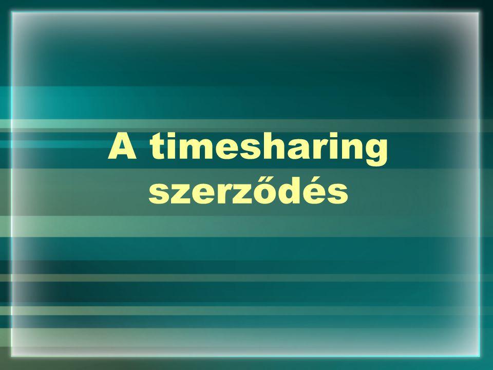 A timesharing szerződés