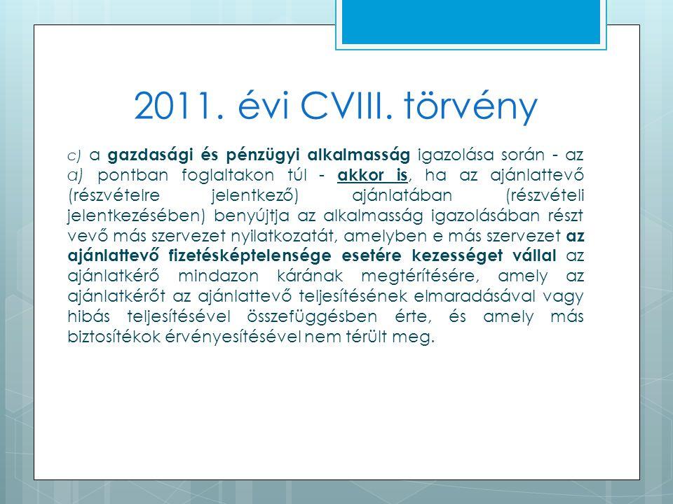 2011. évi CVIII.