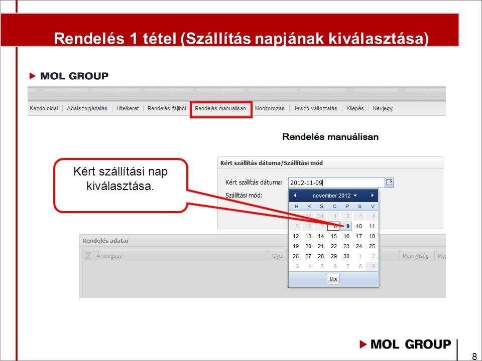 29 Fontos megjegyzések Internetes felületen elintézhető: • Rendeléseket rögzítése - Rendelés Megjegyzés rovatba kérjük az áru átvevő mobil telefon számát megadni.