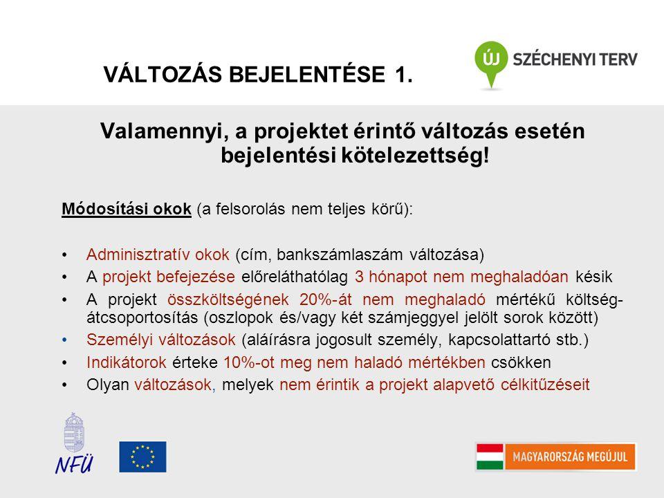 VÁLTOZÁS BEJELENTÉSE 2.
