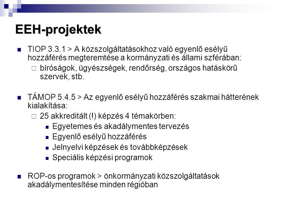EEH-projektek  TIOP 3.3.1 > A közszolgáltatásokhoz való egyenlő esélyű hozzáférés megteremtése a kormányzati és állami szférában:  bíróságok, ügyész