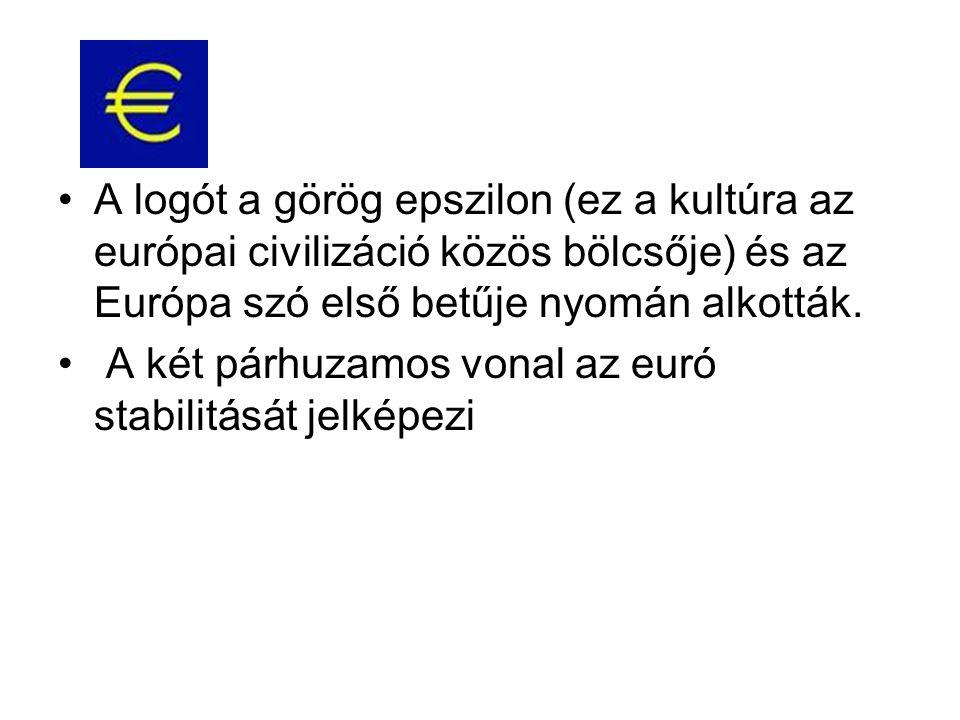 •A logót a görög epszilon (ez a kultúra az európai civilizáció közös bölcsője) és az Európa szó első betűje nyomán alkották. • A két párhuzamos vonal