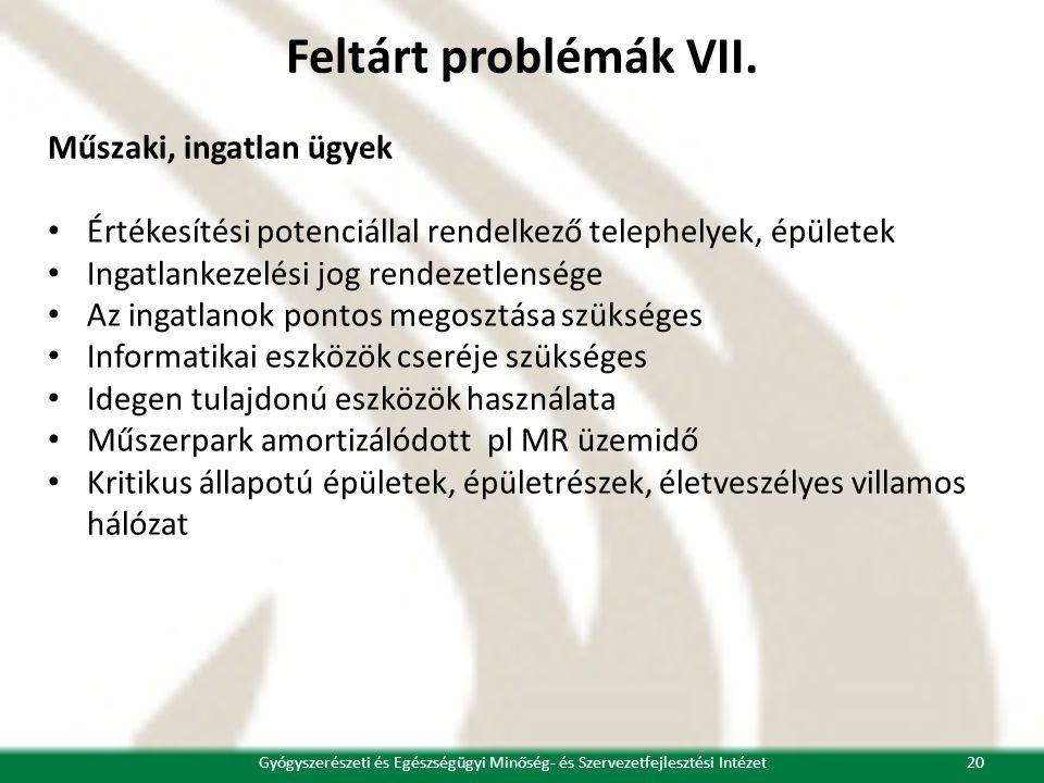 Feltárt problémák VII.