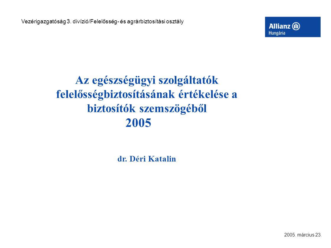 2005. március 23. Vezérigazgatóság 3.