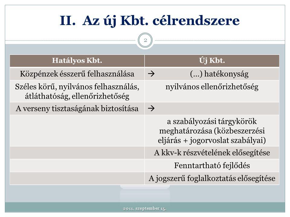 Két új kivételi kör megjelenése: 1.A védelmi irányelv átültetésével összefüggő beszerzések 2.