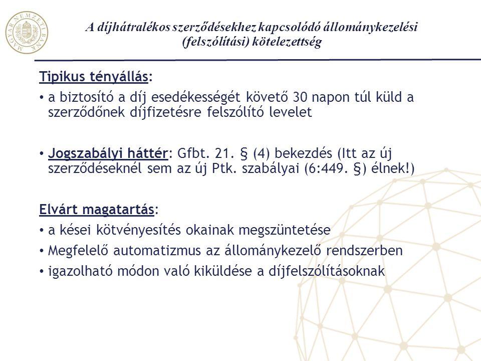 A megszűnt szerződésekhez kapcsolódó értesítési kötelezettségek Értesítés címzettje / Megszűnési okok üzembentartóKKNYRKEK KH DNF15 nap 8 munkanap EGYÉB OK30 nap15 nap Tipikus tényállások a jogszabályi határidőket előíró rendelkezések tükrében Jogszabályi háttér: Gfbt.