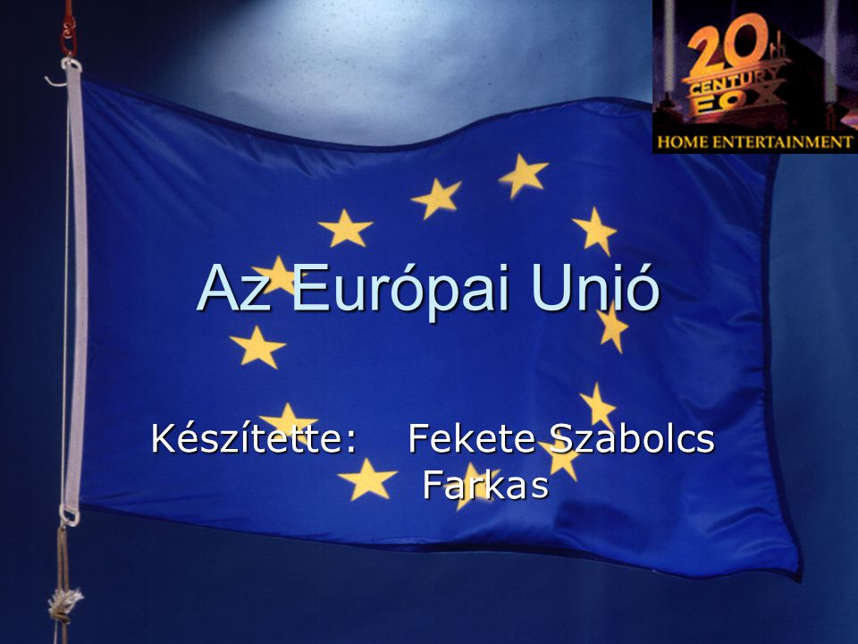 Az Európai Unió  A maastrichti szerződés (1992)  Megszületik az Európai Unió (European Union)  Az integráció új területei: közlekedés, környezetvédelem, kutatás-fejlesztés, kultúra → Gazdasági és Monetáris Unió (EMU): a közös valuta tervének lefektetése
