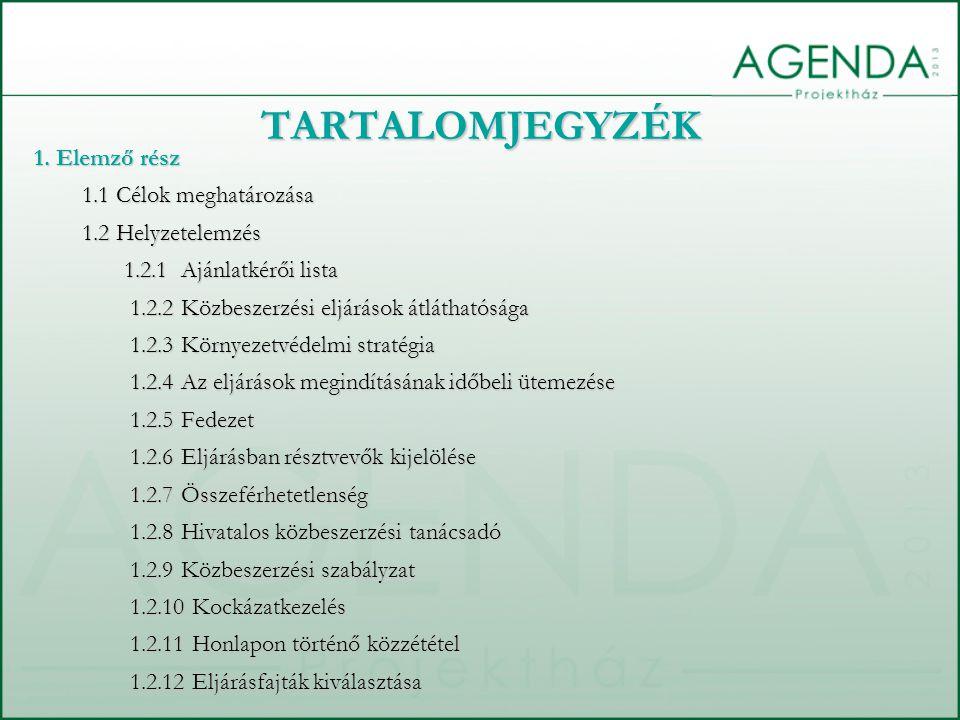 TARTALOMJEGYZÉK 1.2.13 Tárgyalásos eljárások 1.2.14 Részekre bontás 1.2.15 Dokumentáció 1.2.16 Kiegészítő tájékoztatás 1.2.17 Kirívóan alacsony ár 1.2.18 Eredményhirdetés 1.2.19 Alvállalkozó 1.2.20 Erőforrás 1.2.21 Alvállalkozók, erőforrás szervezetek 1.2.22 Új teljesítésre vonatkozó szabályok 1.2.23 Fenntartott szerződések 1.2.24 Elektronikus eljárás