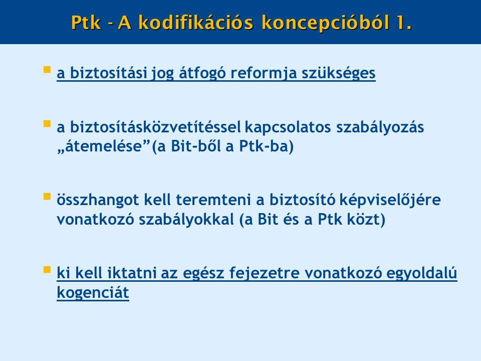 Ptk - A kodifikációs koncepcióból 1.