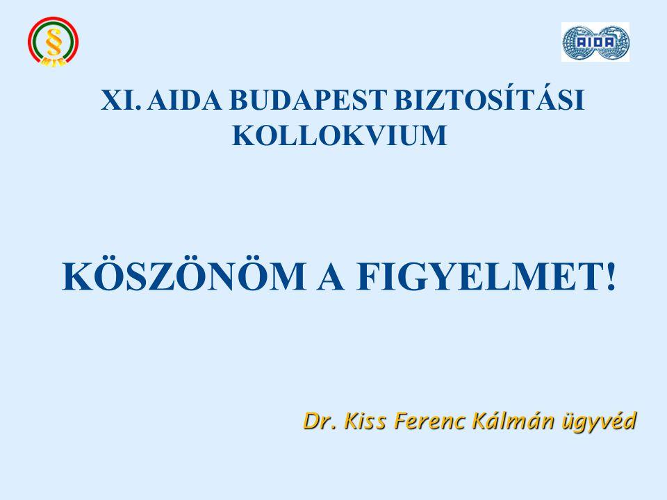 KÖSZÖNÖM A FIGYELMET. Dr. Kiss Ferenc Kálmán ügyvéd Dr.