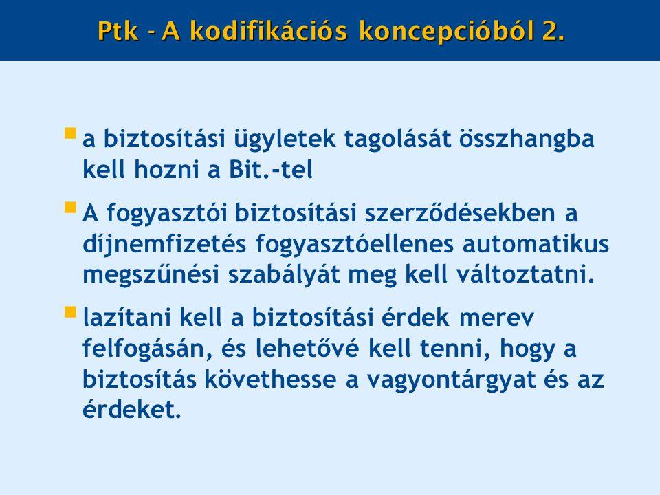 Ptk - A kodifikációs koncepcióból 2.