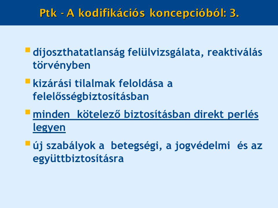 Ptk - A kodifikációs koncepcióból: 3.