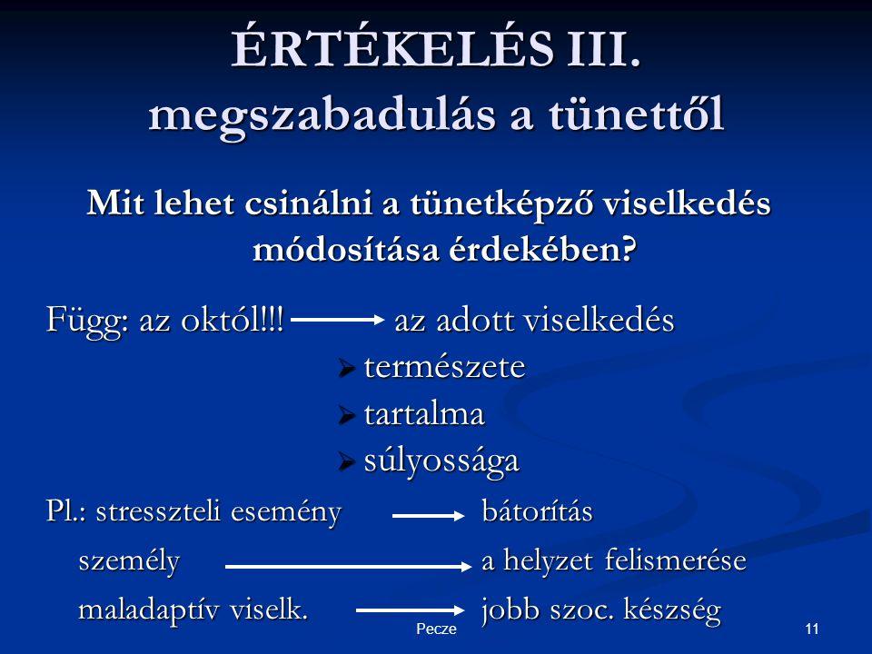 11Pecze ÉRTÉKELÉS III.