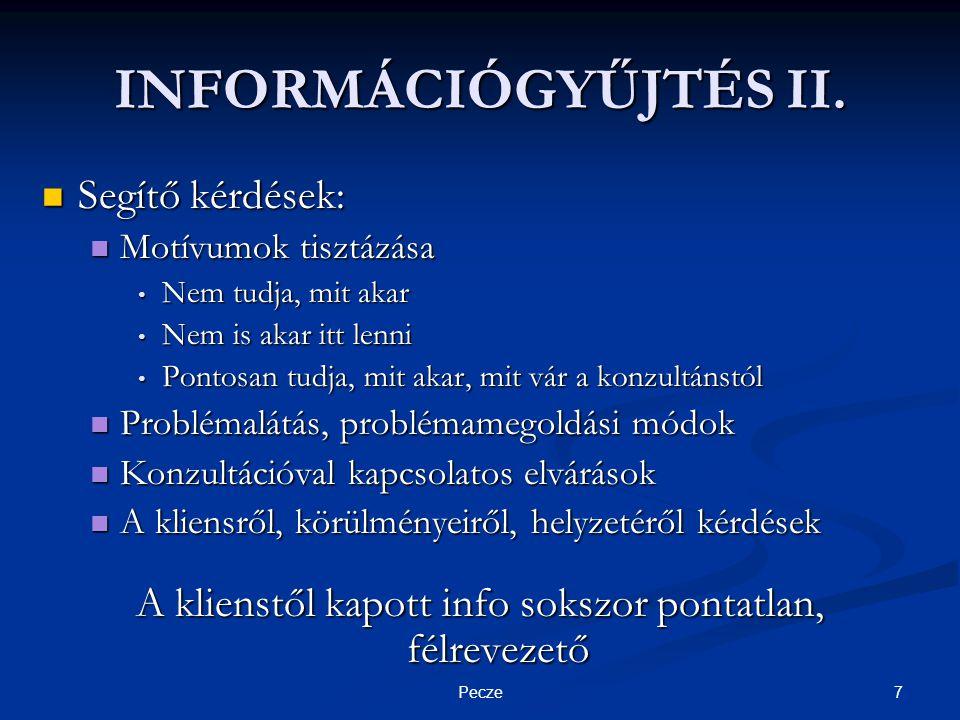 7Pecze INFORMÁCIÓGYŰJTÉS II.