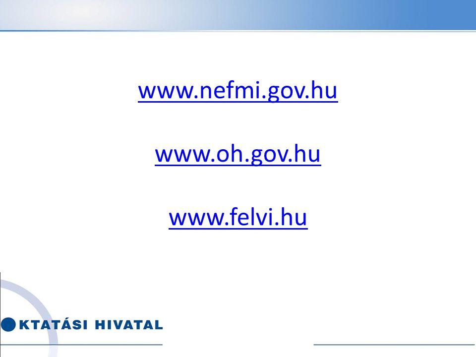 www.nefmi.gov.hu www.oh.gov.hu www.felvi.hu