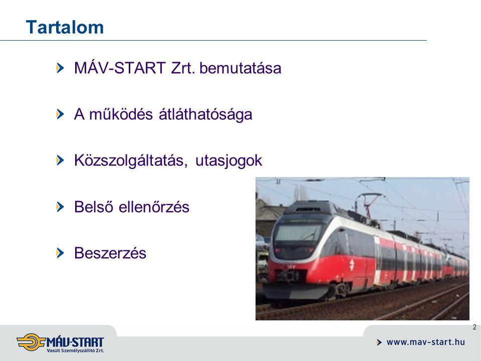 2 Tartalom MÁV-START Zrt.