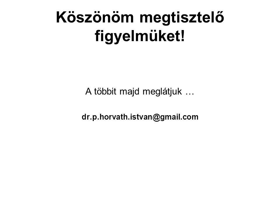 Köszönöm megtisztelő figyelmüket! A többit majd meglátjuk … dr.p.horvath.istvan@gmail.com