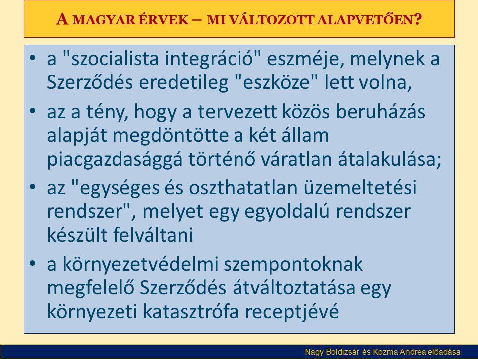 Nagy Boldizsár és Kozma Andrea előadása A MAGYAR ÉRVEK – MI VÁLTOZOTT ALAPVETŐEN .