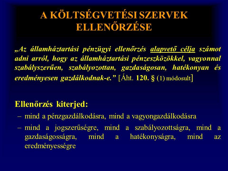 AZ ÁLLAMHÁZTARTÁSI BELSŐ PÉNZÜGYI ELLENŐRZÉS II.ELLENŐRZÉS 2.