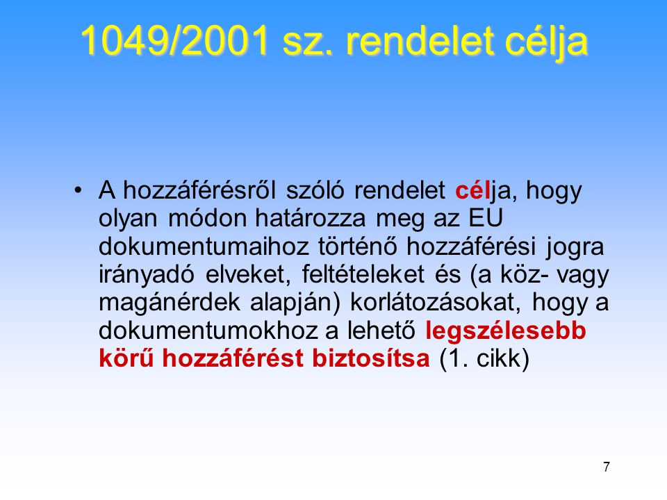 7 1049/2001 sz.