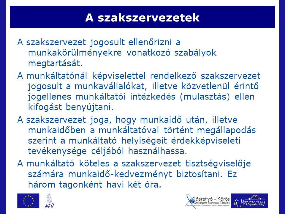 A kollektív szerződés Kollektív szerződés szabályozhatja:  a munkaviszonyból származó jogokat és kötelezettségeket, ezek gyakorlásának, illetve teljesítésének módját, az ezzel kapcsolatos eljárás rendjét;  a kollektív szerződést kötő felek közötti kapcsolatrendszert.