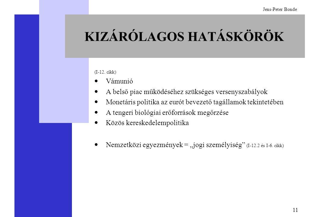 11 Jens-Peter Bonde KIZÁRÓLAGOS HATÁSKÖRÖK (I-12.