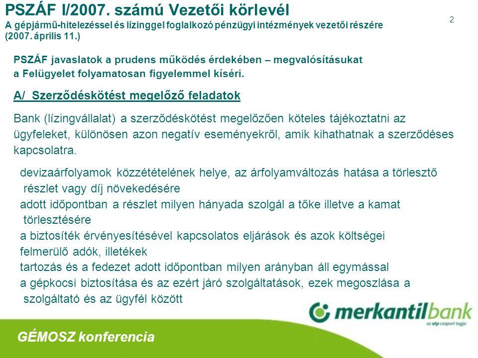3 PSZÁF I/2007.