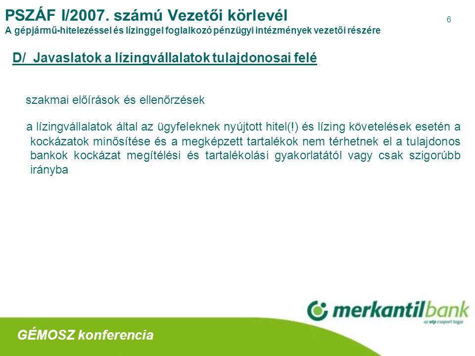 6 PSZÁF I/2007.