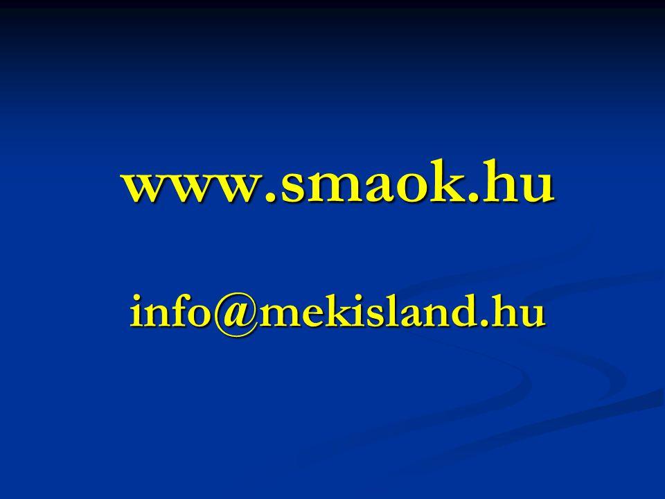 www.smaok.hu info@mekisland.hu