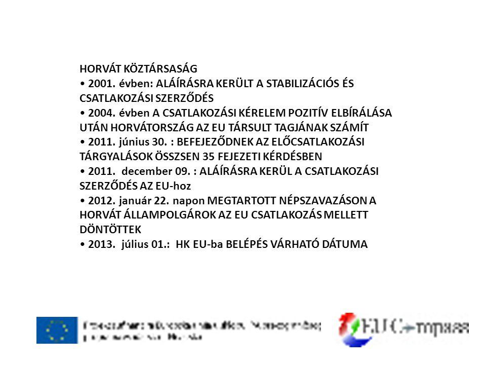HORVÁT KÖZTÁRSASÁG • 2001.