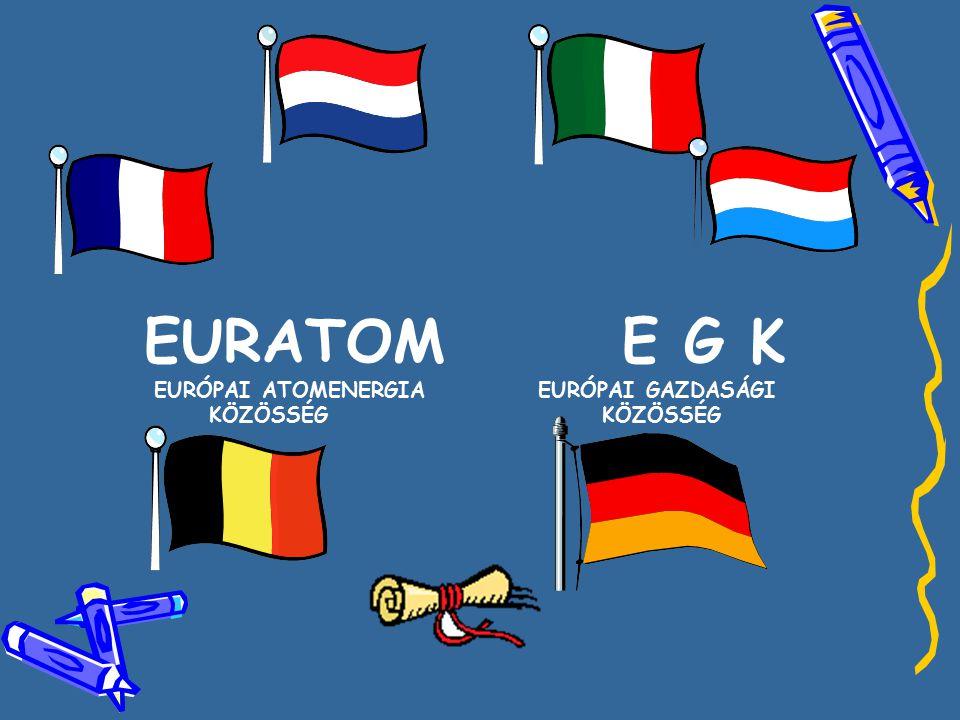 EURATOM E G K EURÓPAI ATOMENERGIA EURÓPAI GAZDASÁGI KÖZÖSSÉG KÖZÖSSÉG