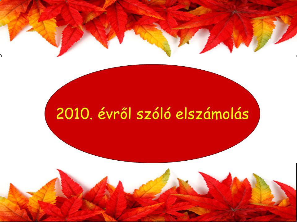 2010. évről szóló elszámolás