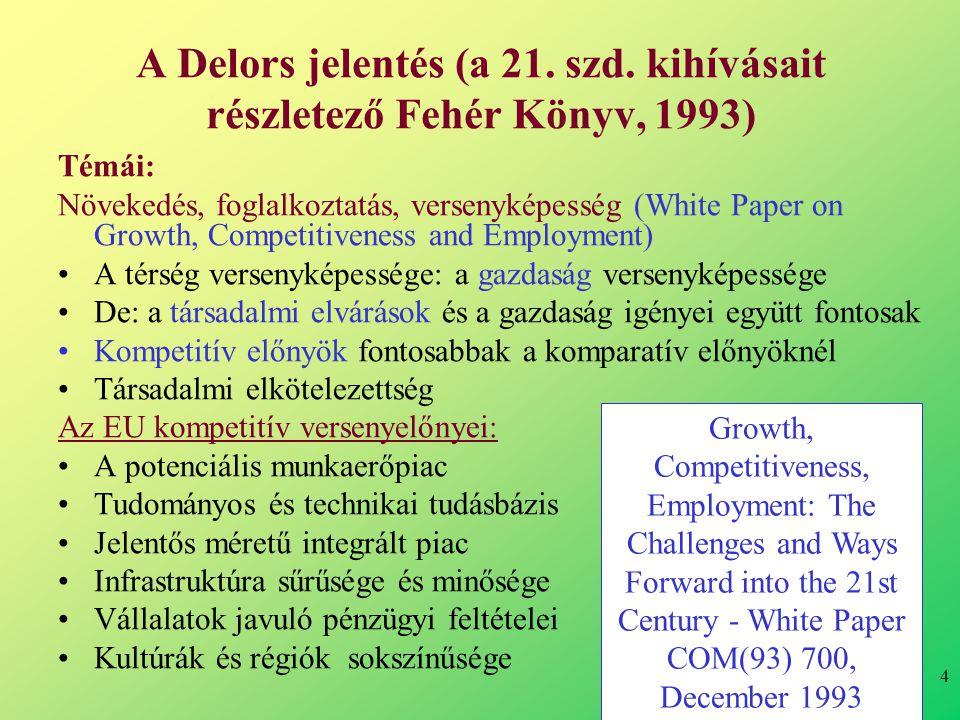 4 A Delors jelentés (a 21. szd.