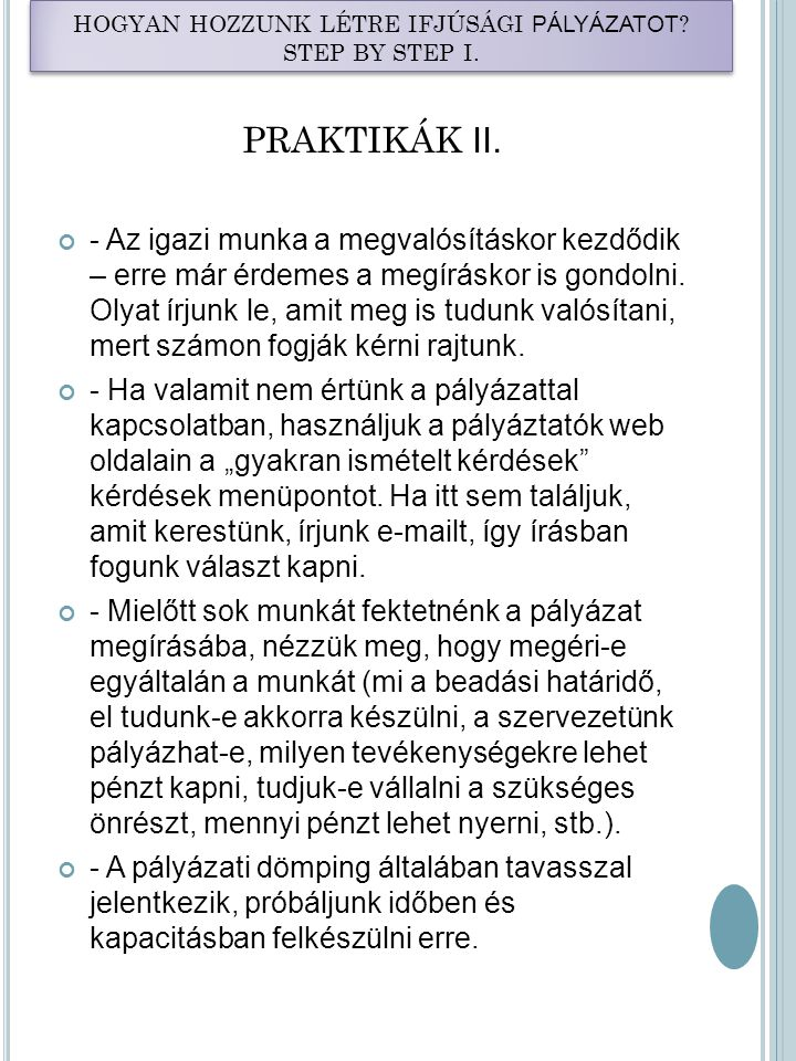 PRAKTIKÁK II.