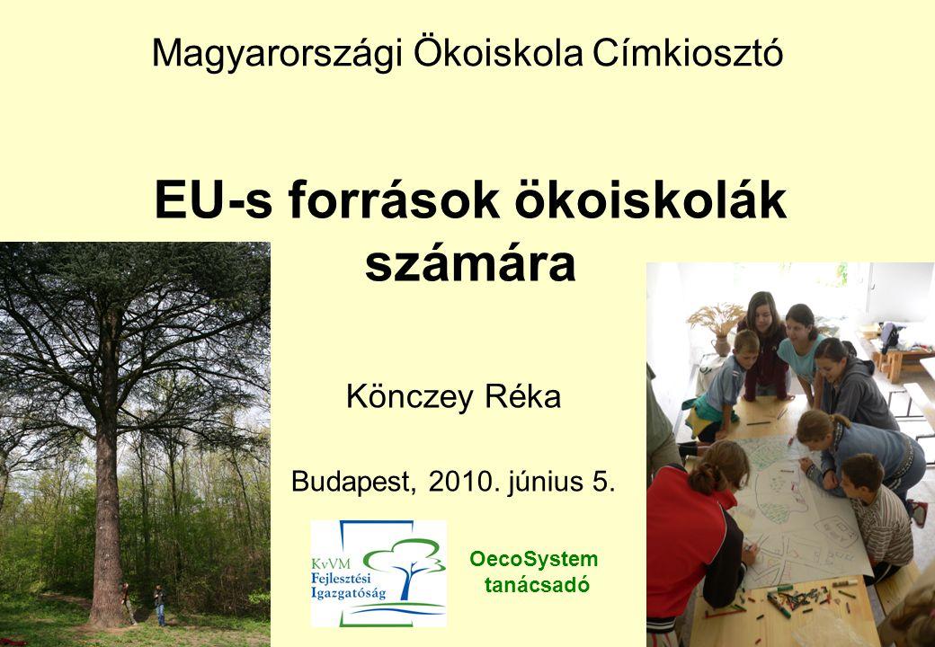ÚMFT forrásai Európai Regionális Fejlesztési Alap (ERFA) beruházási jellegű fejlesztések (termelő beruházás, infrastruktúra fejlesztés, környezetvédelem) Európai Szociális Alap (ESZA) humán erőforrás fejlesztés (képzések, HH…) Kohéziós Alap Közlekedési (50 millió ) és környezetvédelmi (25 millió ) nagyprojektek támogatása