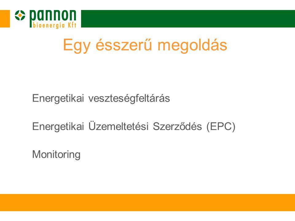 Egy ésszerű megoldás Energetikai veszteségfeltárás Energetikai Üzemeltetési Szerződés (EPC) Monitoring