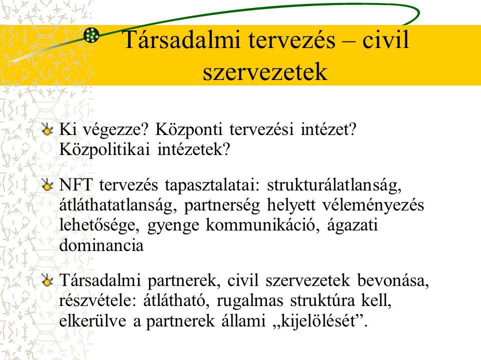 Társadalmi tervezés – civil szervezetek Ki végezze.