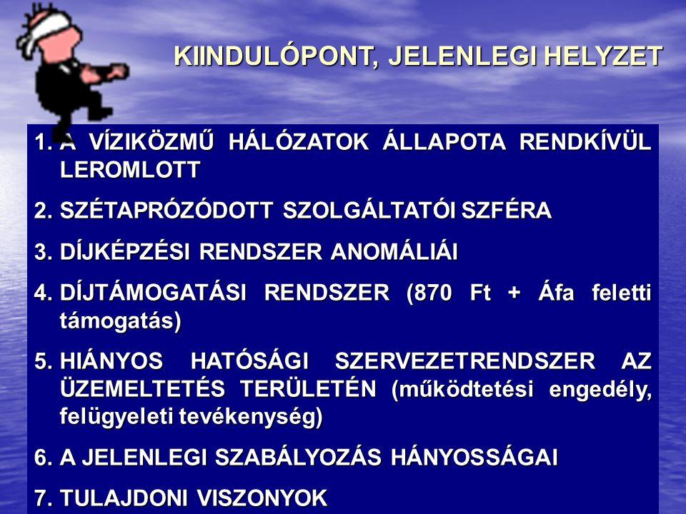 KIINDULÓPONT, JELENLEGI HELYZET 8.AZ ÁLLAMI VAGYONRÓL SZÓLÓ 2007.