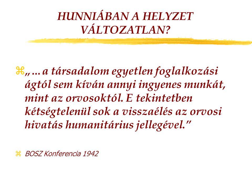 HUNNIÁBAN A HELYZET VÁLTOZATLAN.