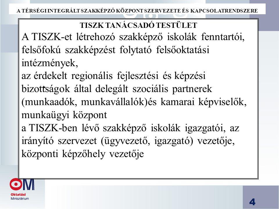 5 Tanácsadó testület jogi háttere a Felsőoktatásról szóló törvény 167.