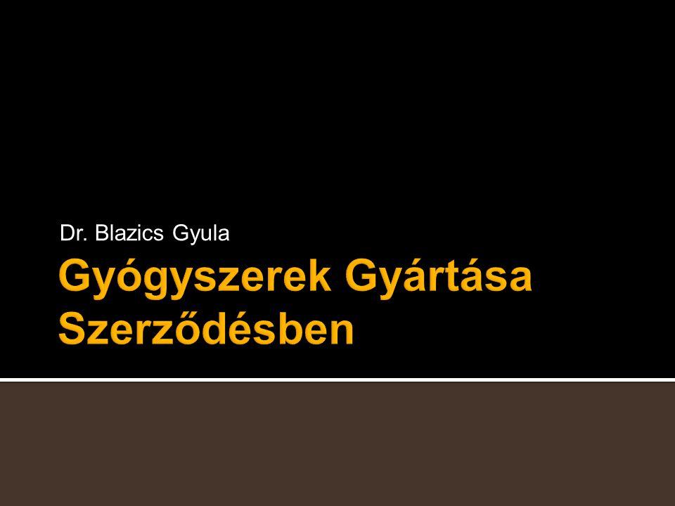 Dr. Blazics Gyula