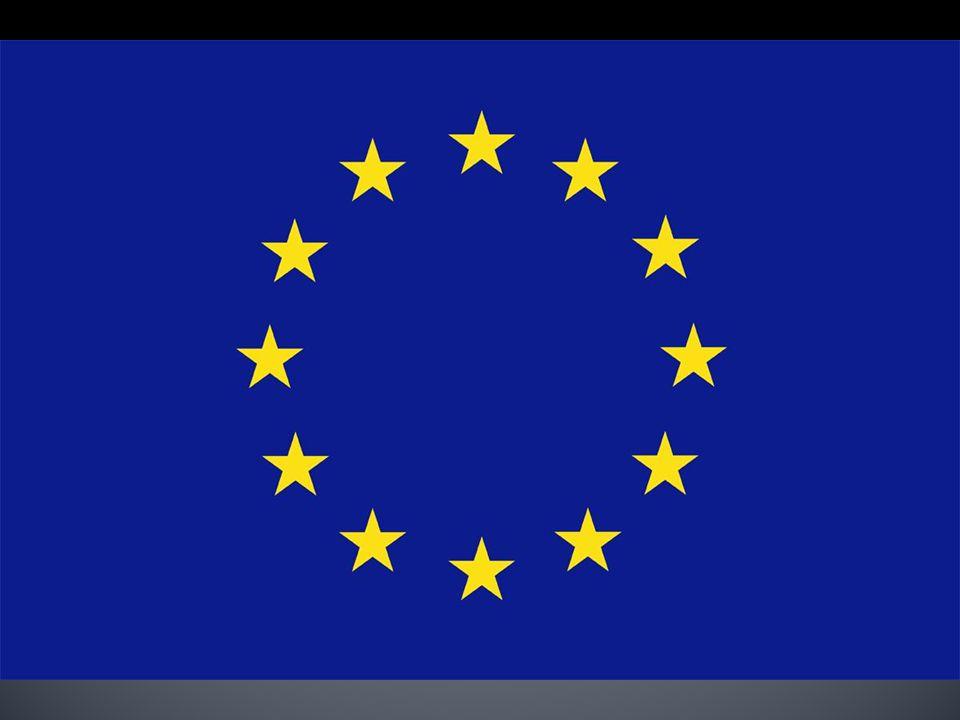 A kék háttér (ég) előtti kört alkotó csillagok Európa állampolgárait, az európaiak unióját szimbolizálják. A csillagok száma 12, s ez nem változik a t
