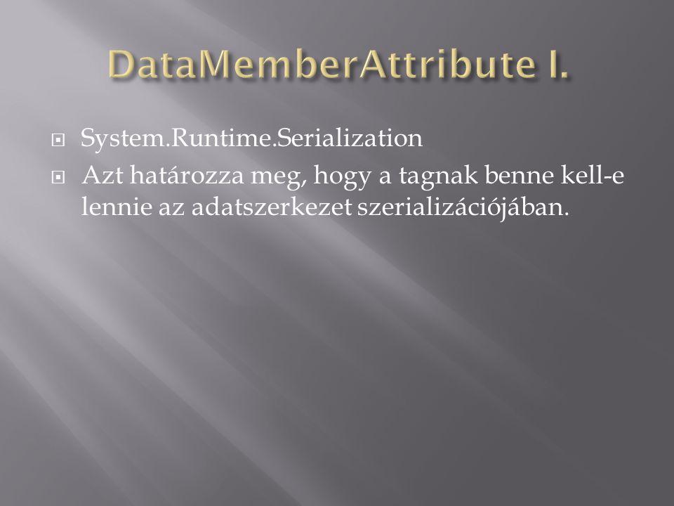 ParaméterLeírás NameA tagból generált séma elem nevét állítja be.