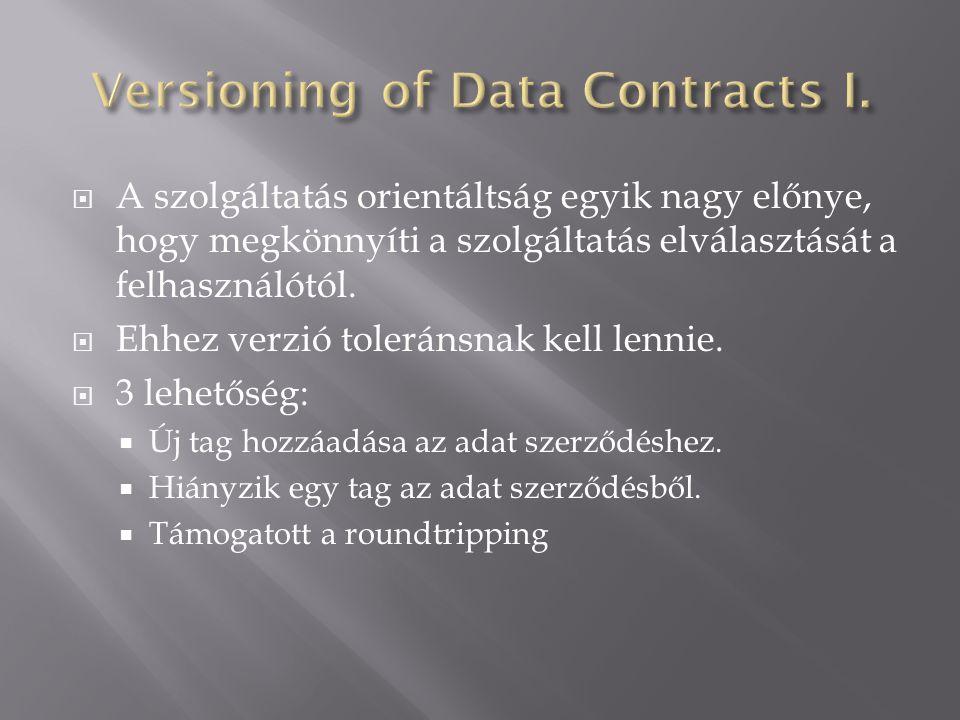  A szolgáltatás orientáltság egyik nagy előnye, hogy megkönnyíti a szolgáltatás elválasztását a felhasználótól.