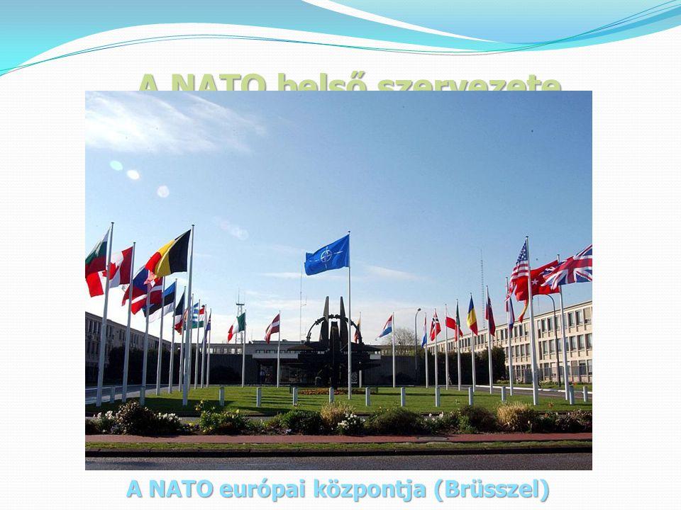 A NATO belső szervezete A NATO európai központja (Brüsszel)