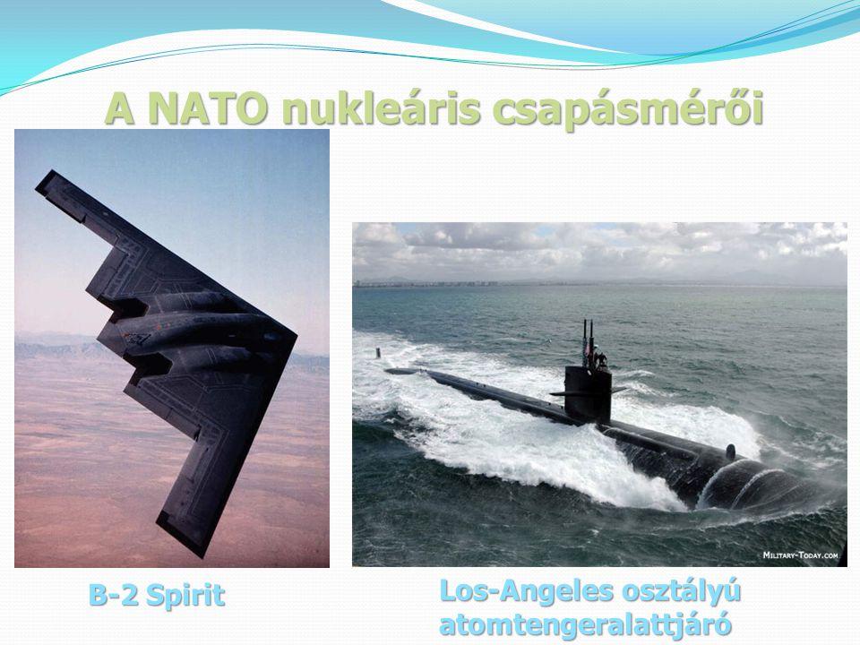 A NATO nukleáris csapásmérői B-2 Spirit Los-Angeles osztályú atomtengeralattjáró