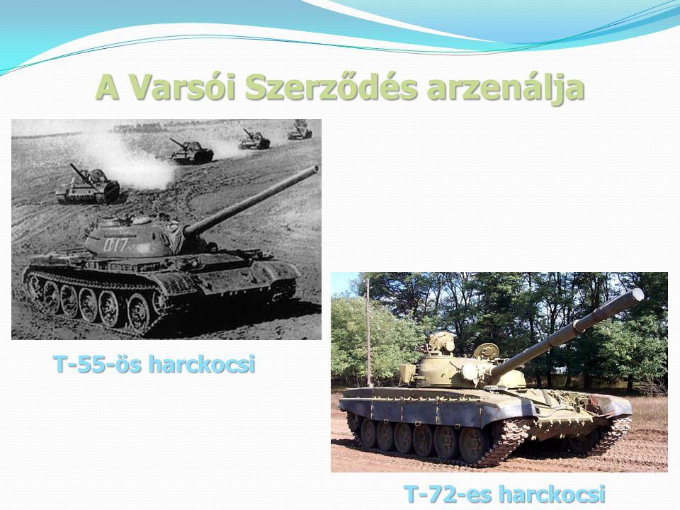 A Varsói Szerződés arzenálja T-55-ös harckocsi T-72-es harckocsi